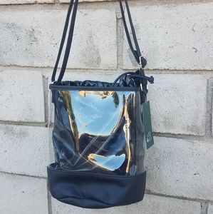 NWT Clear and Black Bucket Bag by WILD FABLE